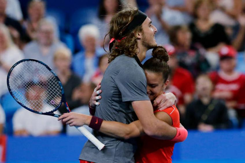 Stefanos Tsitsipas Is Very Supportive Of Women Says Sakkari Hopman Cup Supportive Sayings
