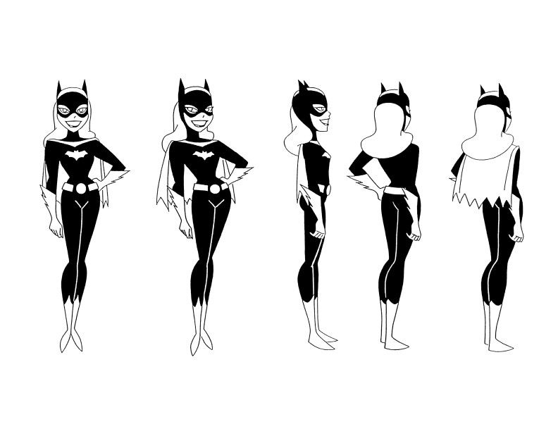 Cartoon Character Design Sheet : Cartoon concept design batman the animated series model