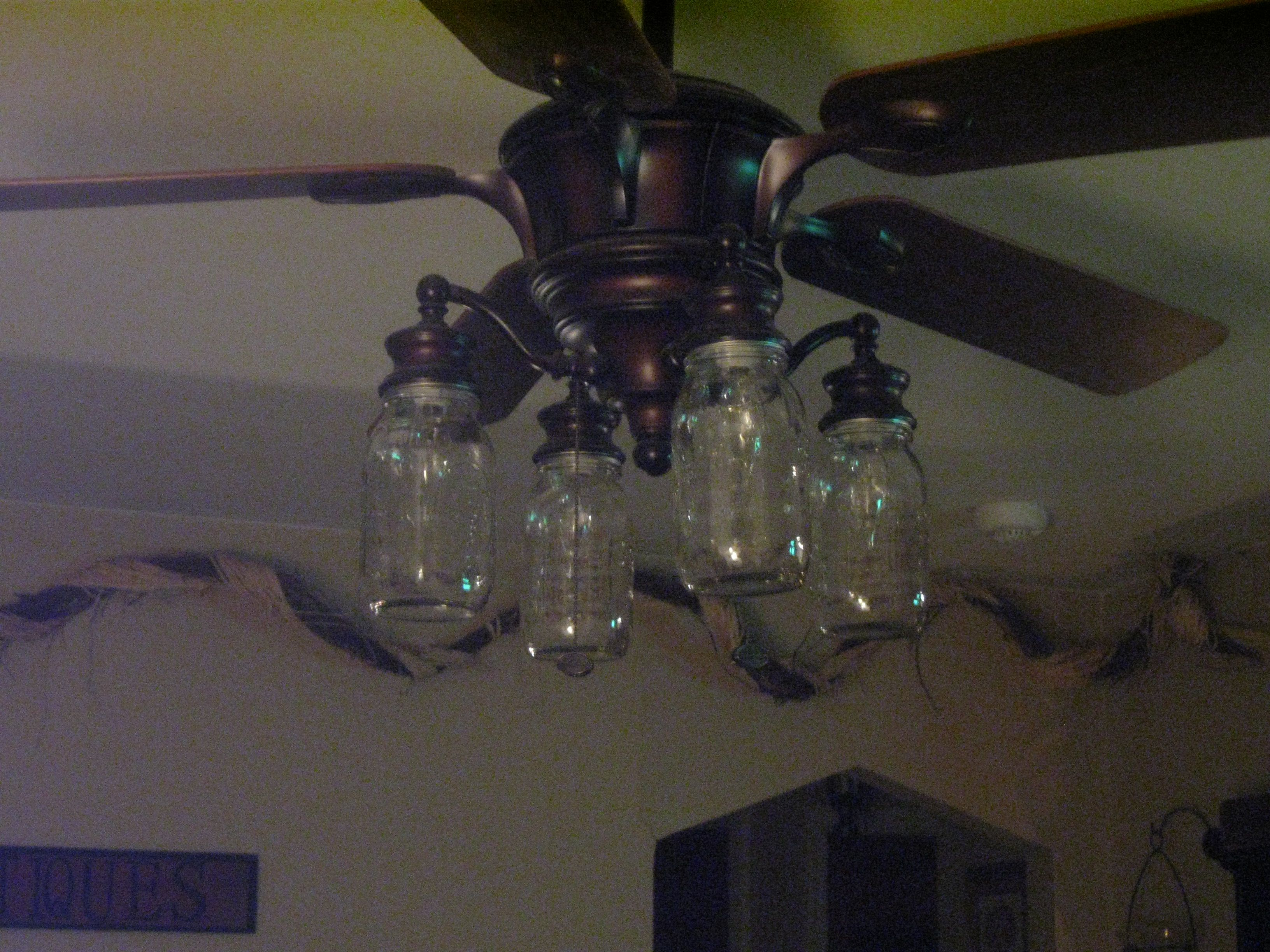 Mason Jars For Your Ceiling Fans Too For The Home