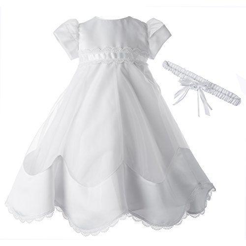 Lauren Madison Baby-Girls Newborn Full Skirt Dress Gown ...
