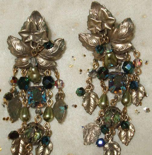 Green Goddess Kirks Folly Earrings by Jelenity on Etsy, $45.00