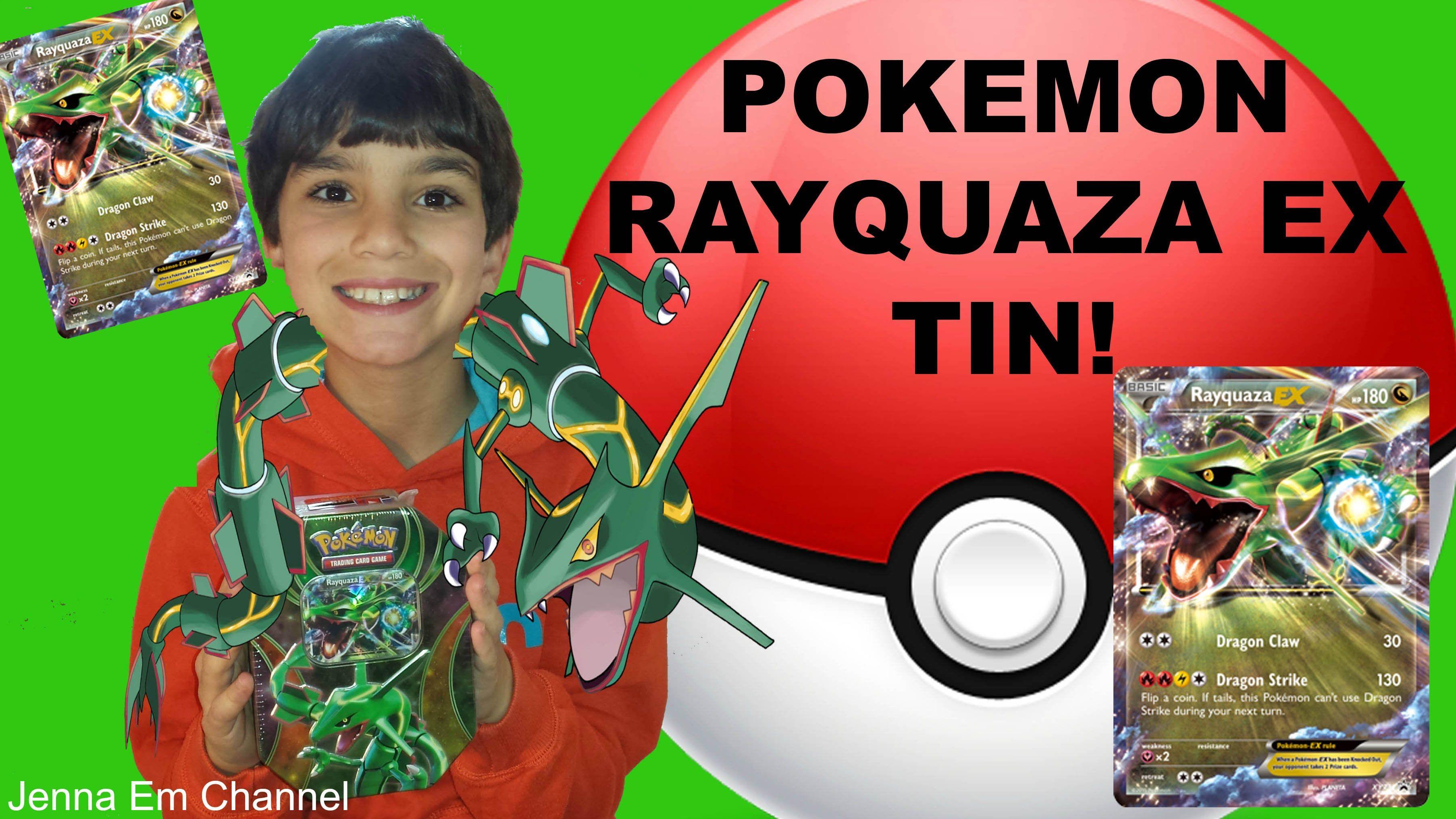 #VIDEO: #Pokemon #Rayquaza EX Power Beyond Tin Opening! Jenna Em Channel  WATCH: https://youtu.be/Ng5Q5ByThzM #Pokemon20