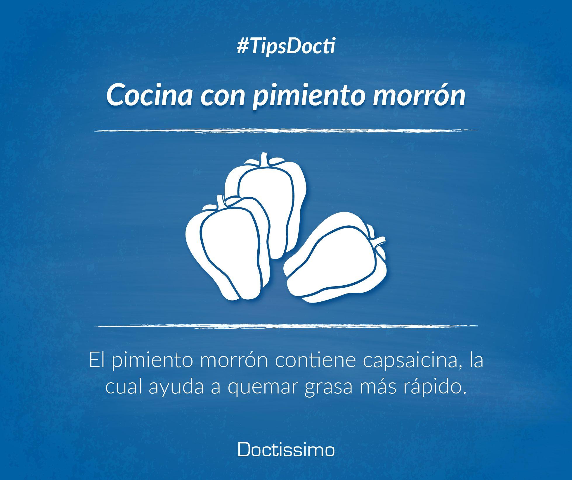 #TipsDocti ¿Sabías qué si un pimiento tiene tres protuberancias, su sabor será dulce y servirá para ensaladas?   #nutrición #recetas #tipscocina #pimientomorrón