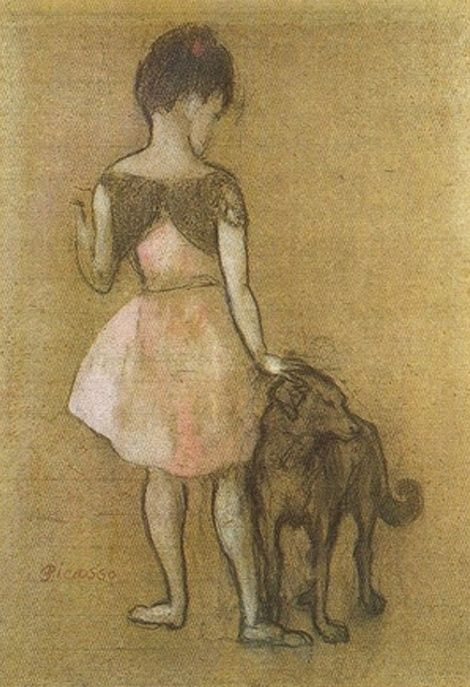 Girl With A Dog 1905 By Pablo Picasso Picasso Art Pablo Picasso Picasso