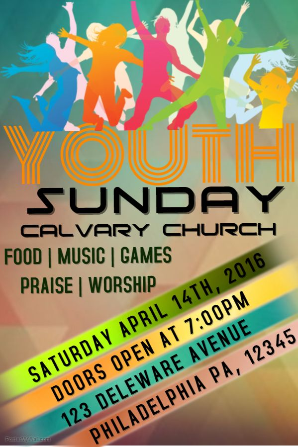 Youth Sunday Church Flyer Template Church Event Flyer Templates