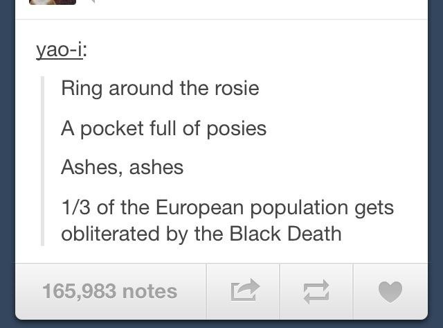 Ring Around The Rosie History Jokes Tumblr Funny History Humor