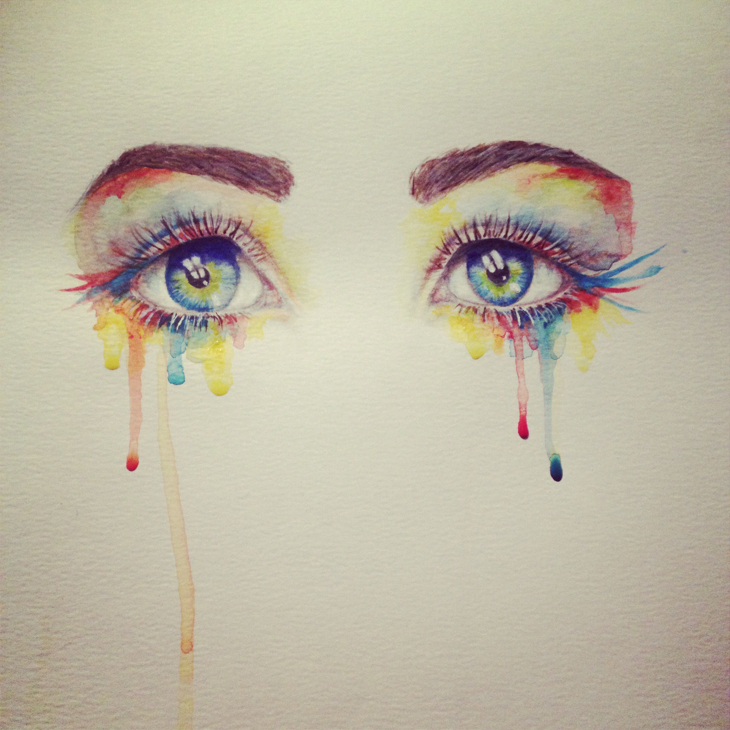 Watercolor eyes - by Miranda Watson | Watercolor eyes, Eye art ...