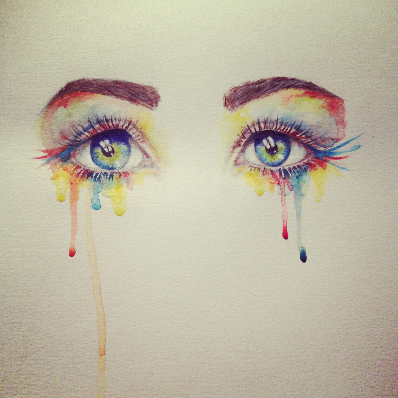 Best Pinterest Art: Watercolor Eyes - By Miranda Watson