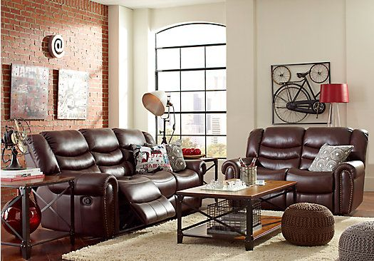 shop for a roger chocolate 5pc reclining living room at rooms to