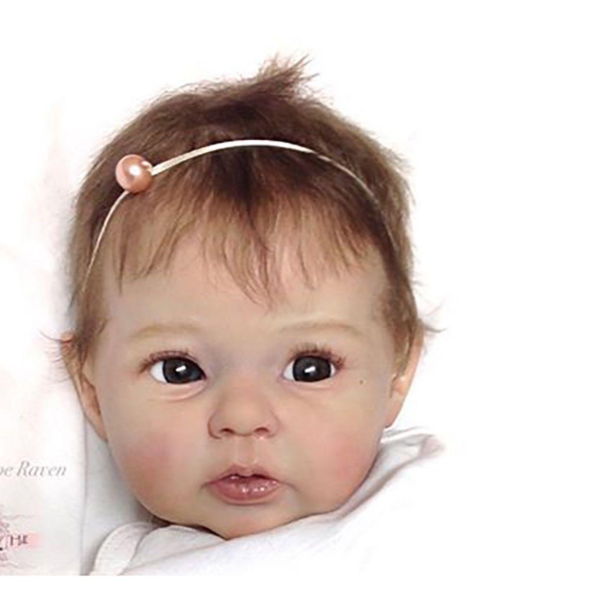 20/'/' Unpainted Reborn Baby Doll Kits Soft Silicone Vinyl Head Arms Legs Supplies