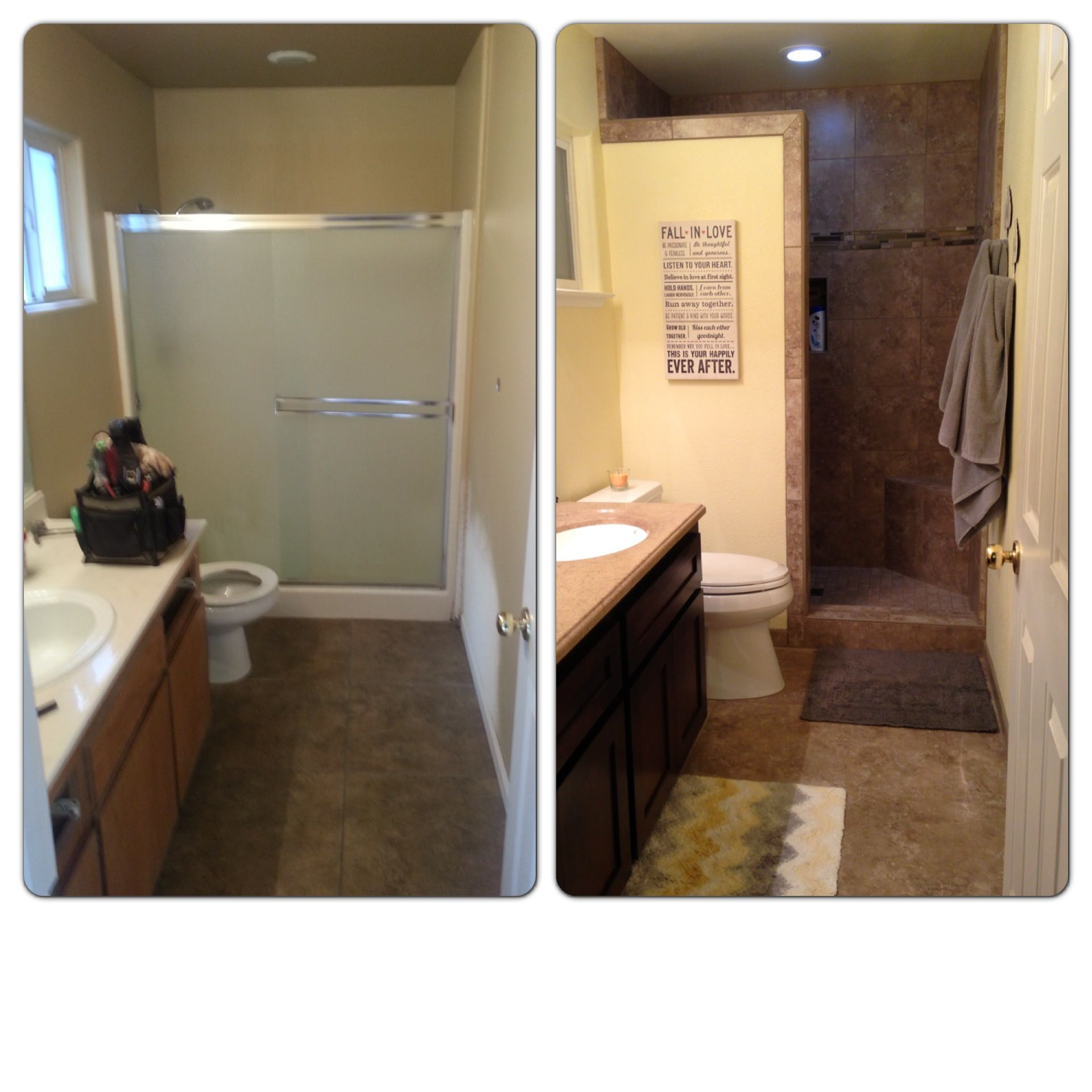 Bathroom Remodel Walk in shower Making the most of a small space