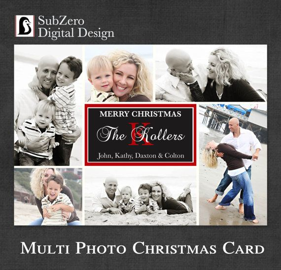 Photo christmas card multiple photos digital file you print photo christmas card multiple photos digital file you print customizable holiday card 5x7 costco card envelope sizes and etsy store m4hsunfo
