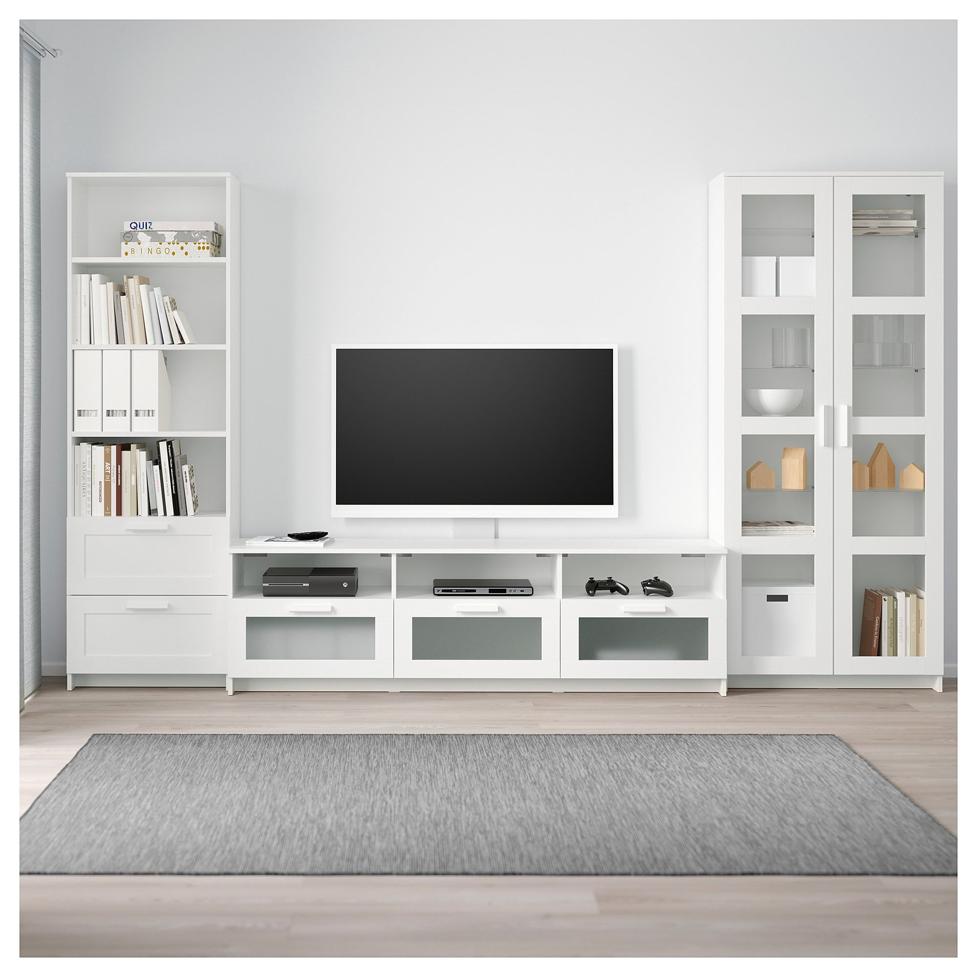 Brimnes Tv Storage Combinationglass Doors White In 2019 Around