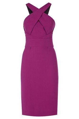 Issa Cross-Front Dress, £450, available at Issa.   #refinery29 http://www.refinery29.com/58648#slide-9