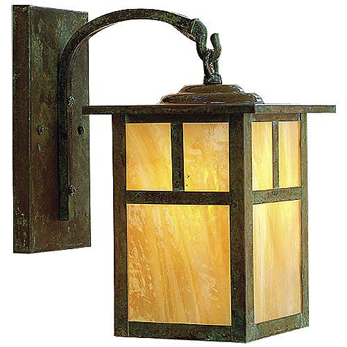 mission arched arm outdoor wall sconce by arroyo craftsman at lumens