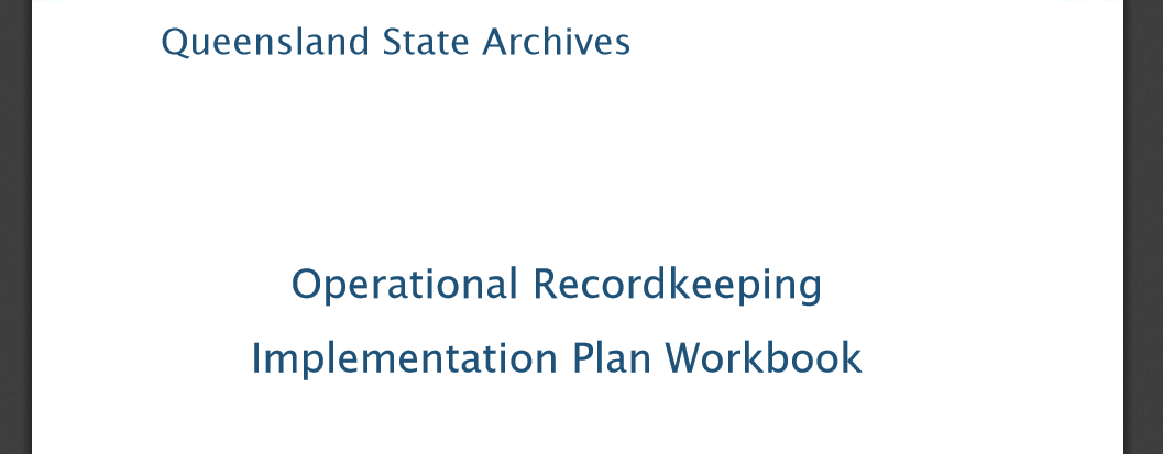 Operational Recordkeeping Implementation Plan Workbook