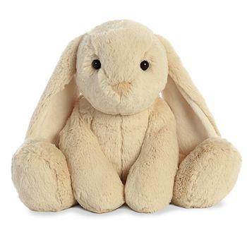 Tribbles the Stuffed Tan Bunny with Long Floppy Ears by Aurora #bunnyplush