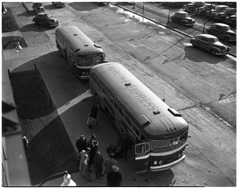 Airport Shuttles, Willow Run Airport, February 1948