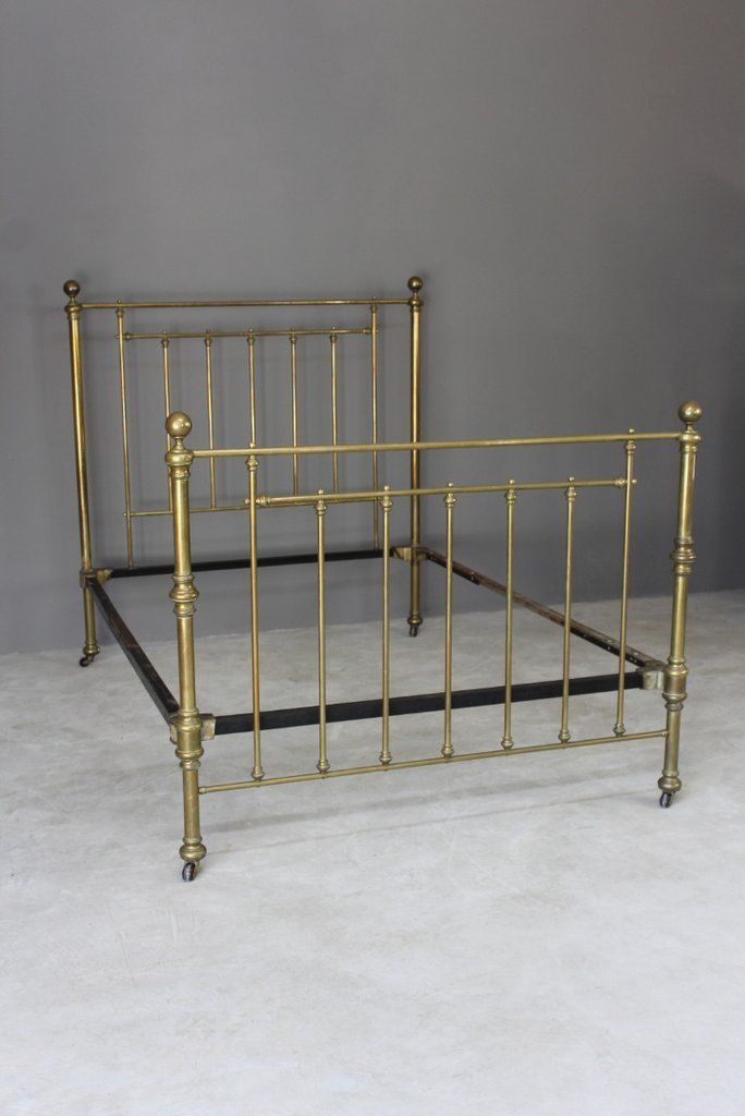 Best Antique Double Brass Bed Frame Bedstead With Images 400 x 300