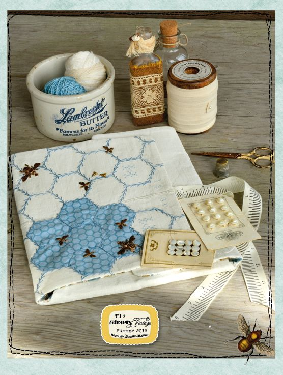 Simply Vintage Eté 2015 - Summer N°15  Pochette IPAd by Lisa DeBee Schiller QUILTMANIA Editions http://www.quiltmania.com/simply-vintage-magazine.html