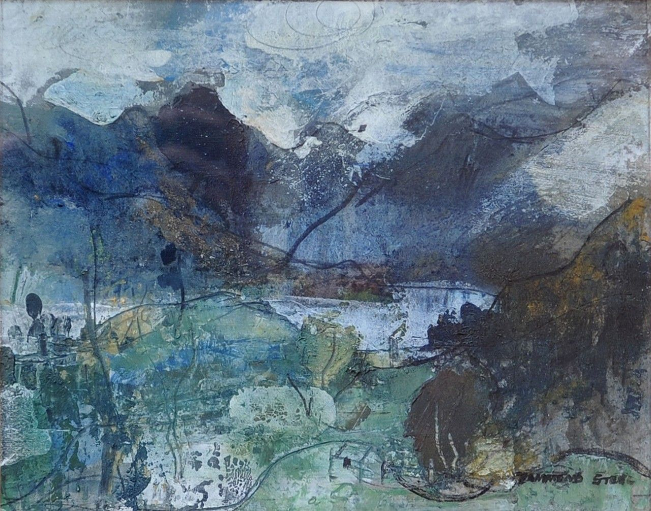 George Hammond Steel British 1900 1960 Buttermere Lake District Oil On Board 34 40cm Via Landscape Paintings Abstract Landscape Large Painting