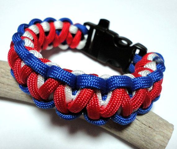 Gorilla Knot Weave Thick Patriotic 550 Paracord Survival