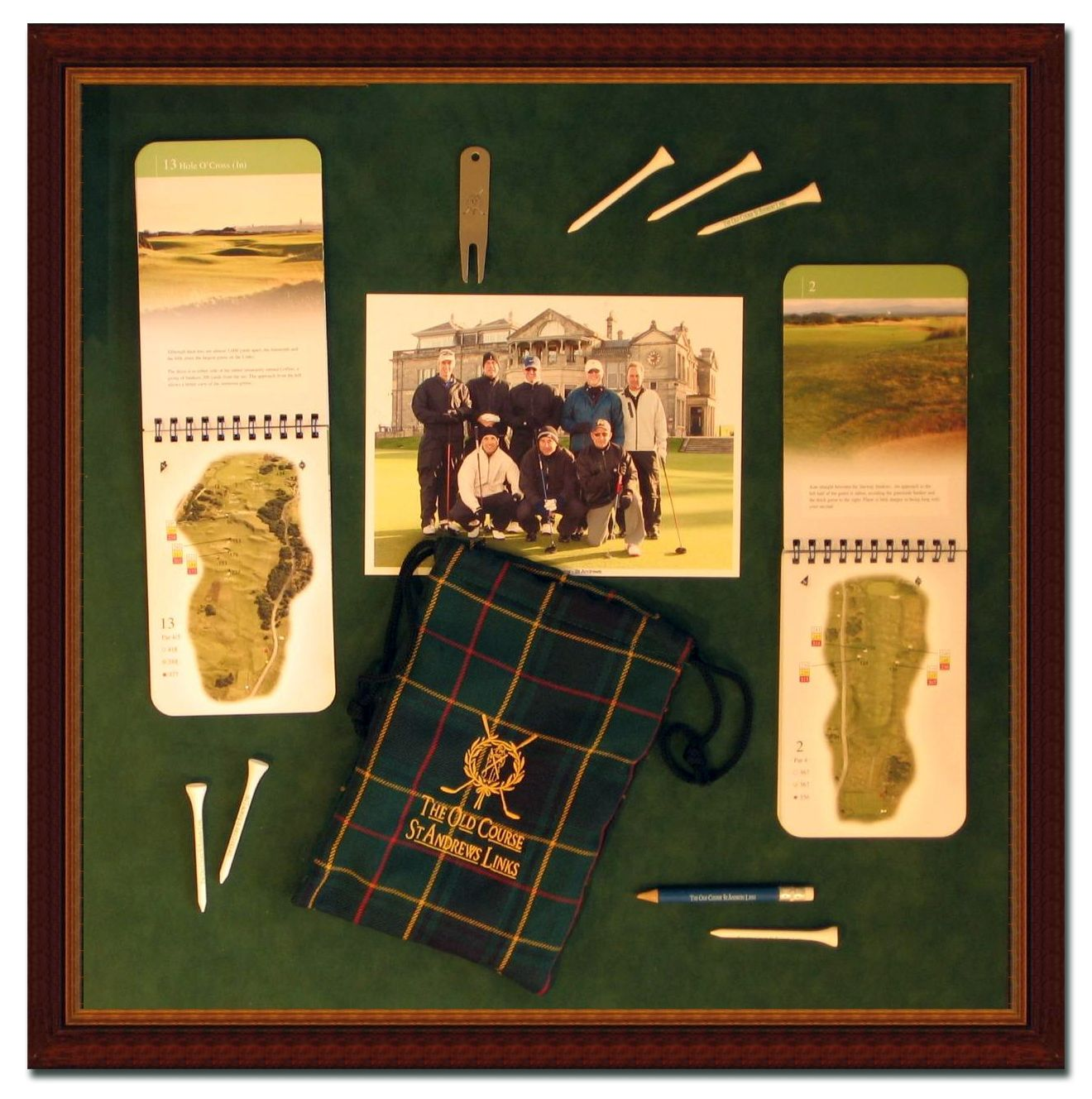 This Was A Fun Project Mementos From A Once In A Lifetime Trip To Scotland And The Old Course At St Andrews Are Properly Moun Shadow Box Golf Trip Old Things