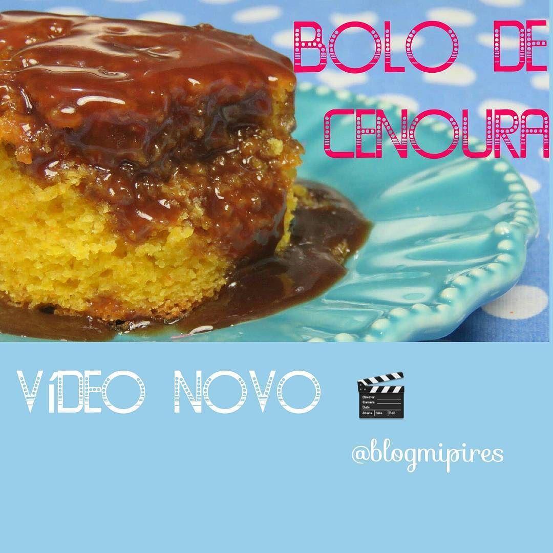 Vídeo Novo  BOLO DE CENOURA   Essa receita prática e maravilhosa veio direto do caderno das receitinhas da minha mãe  linda  tenho certeza que vcs vão  amar   Para assistir acesse o canal Blog Mi Pires no YouTube ou pelo link: https://m.youtube.com/watch?v=NDiBNoind90 #boatarde #videonovo #bolodecenoura #bolo #bolos #bolodecenouracomchocolate #bolodecenouraechocolate #bolocaseiro #bolosimples #receita #receitas #video #videos #vídeodereceita #sdv #seguimos #segue #seguesigodevolta…