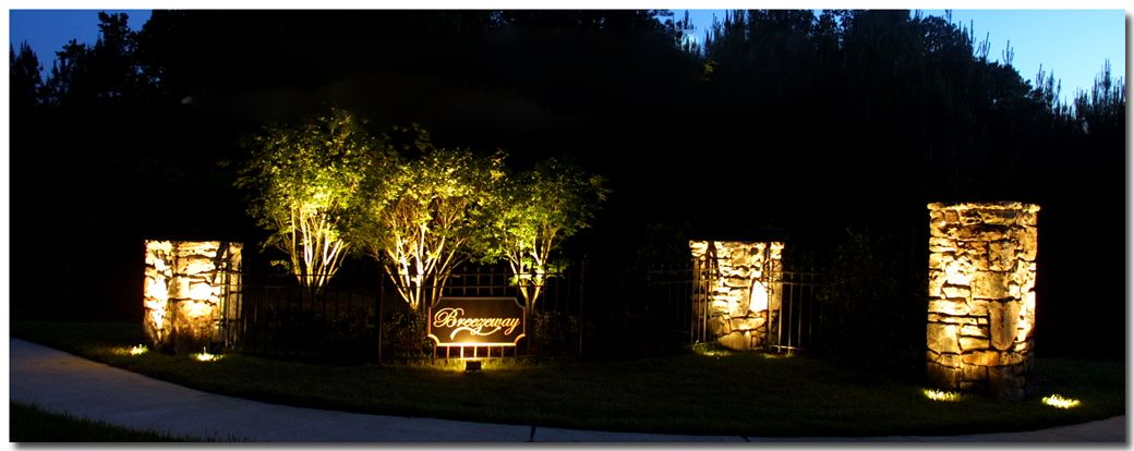 Outdoor Lighting We Installed On A Raleigh Nc Subdivision