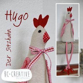 Hugo Deko nähanleitung und schnittmuster für sitzhahn hugo deko