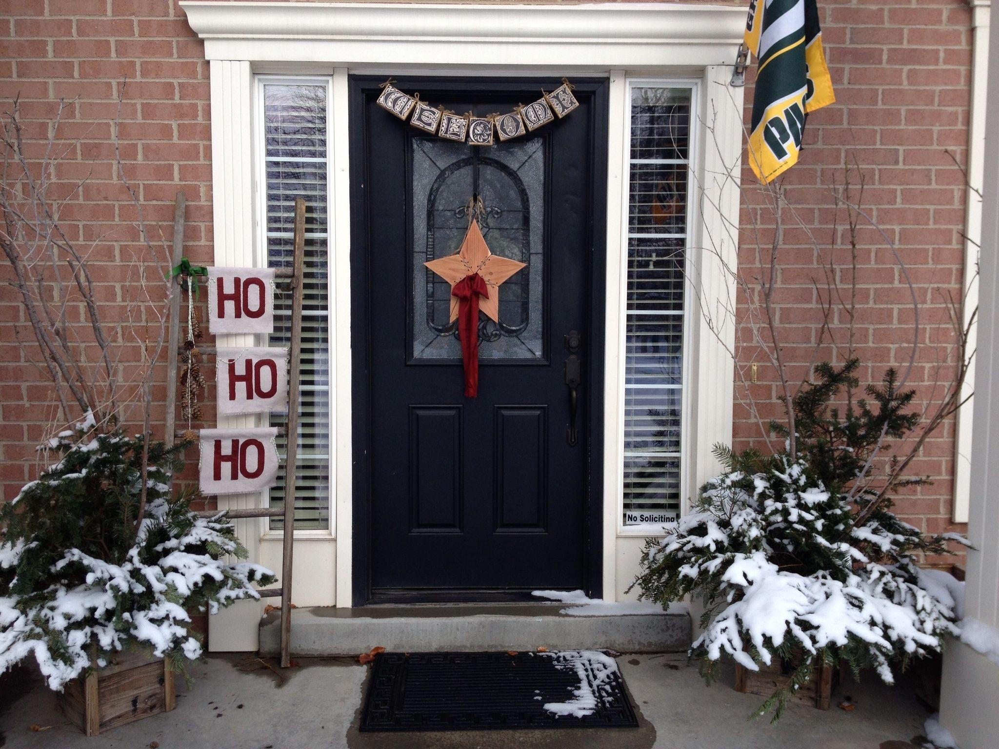 Christmas Porch Outdoor Decor Welcome Blocks Found