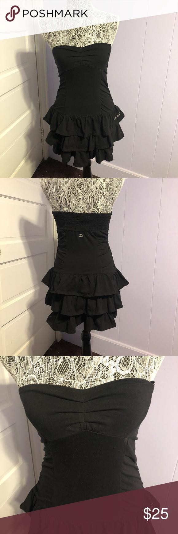 Billabong Strapless Little Black Dress Little Black Dress Clothes Design Billabong Dress [ 1740 x 580 Pixel ]