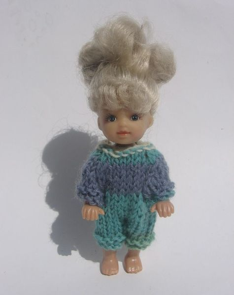 Ubranko Dla Lalki Ok 11 Cm Rampers Doll Clothes Crochet Handmade