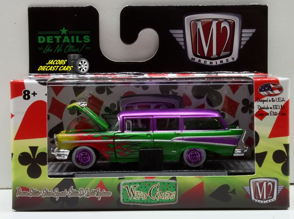 AUTO TRUCKS 6 PIECE SET RELEASE 38 IN ACRYLIC CASES 1//64 BY M2 MACHINES 32500-38