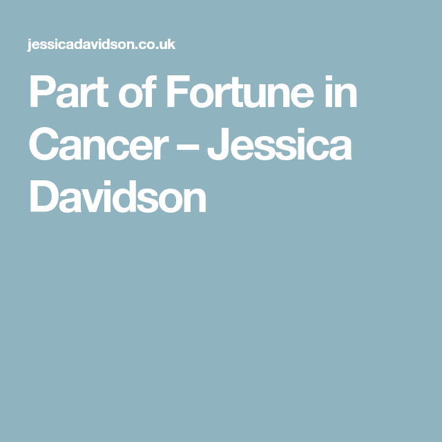 fortune in cancer astrology