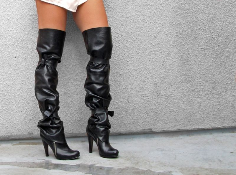 Probably will be a little pricy but DIY boot spats. Thigh high ...