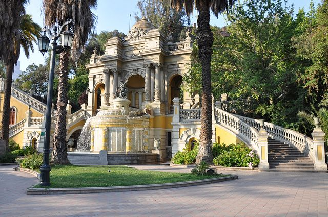 Hilly Cerro Santa Lucia, one of Santiago's nicest parks.