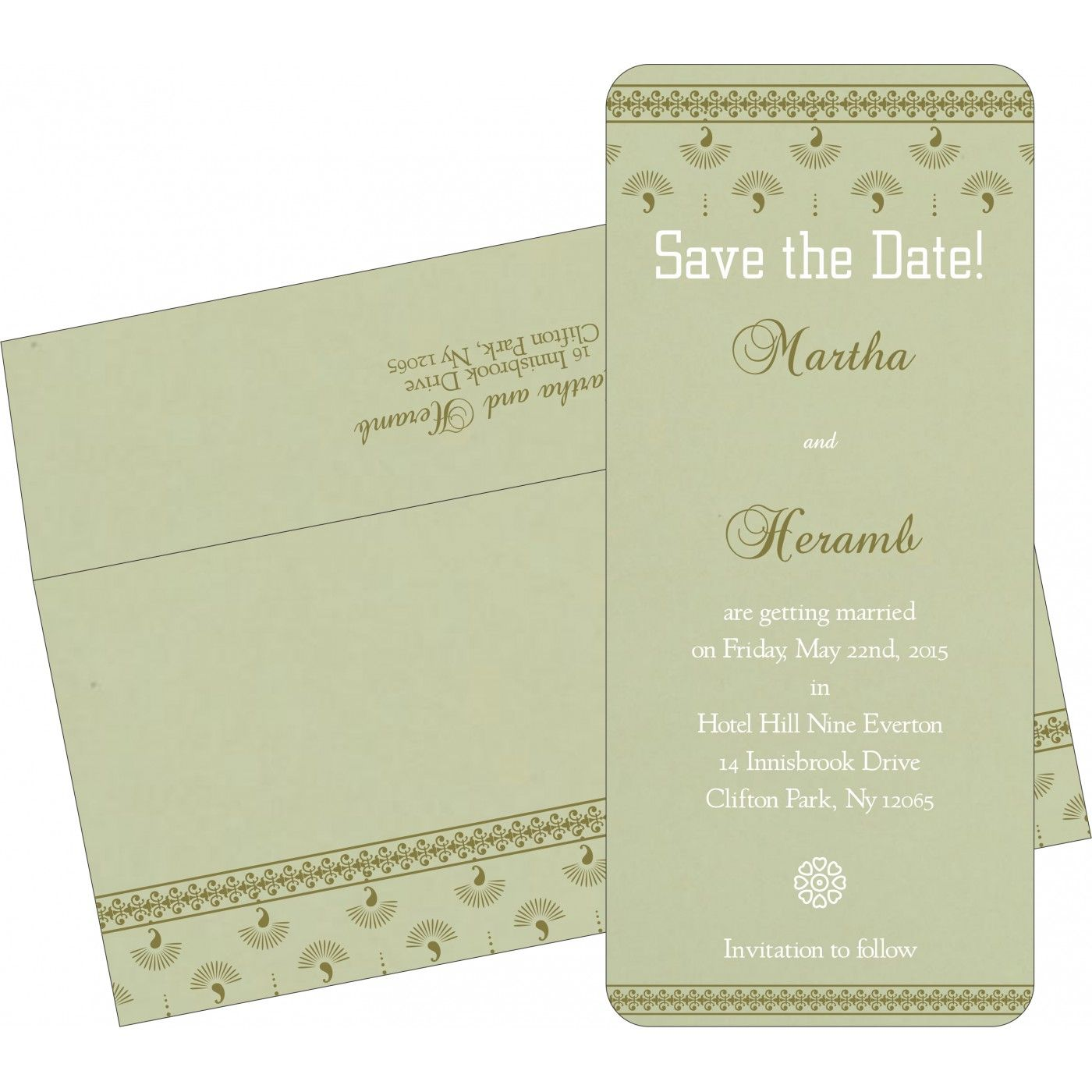 Sage green matte screen printed wedding invitation : i-8247l ...