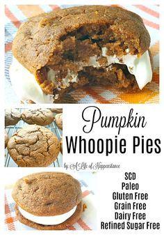 Pumpkin Whoopie Pies (SCD, Paleo, Gluten Free, Dairy Free)