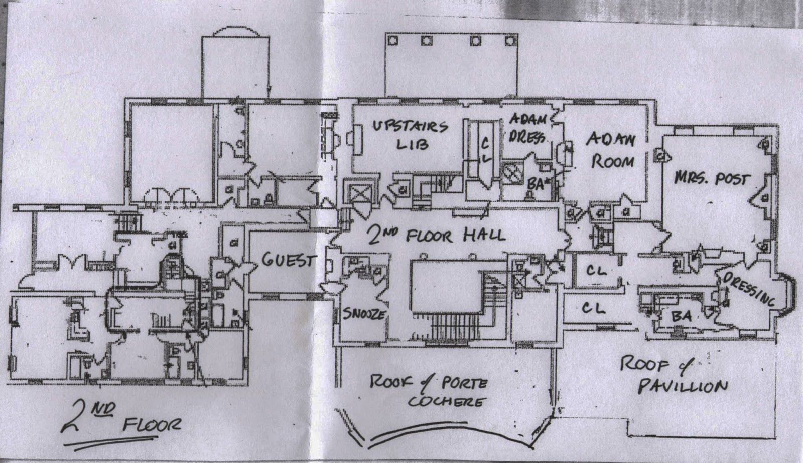 Hillwood Second Floor Plan Washington Dc Floor Plans How To Plan House Floor Plans