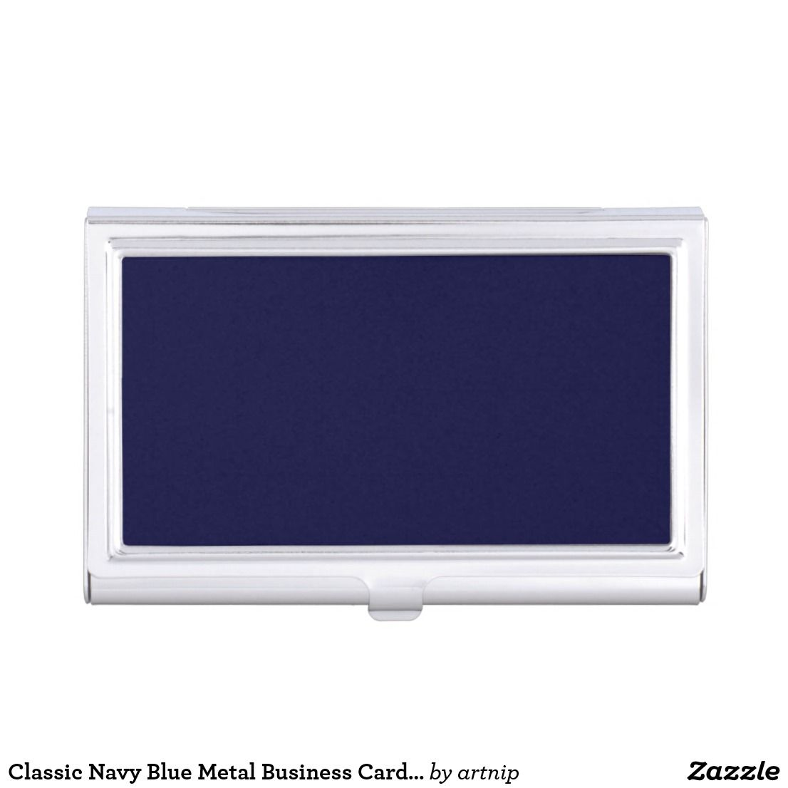 Classic navy blue metal business card case business card case and classic navy blue metal business card case colourmoves