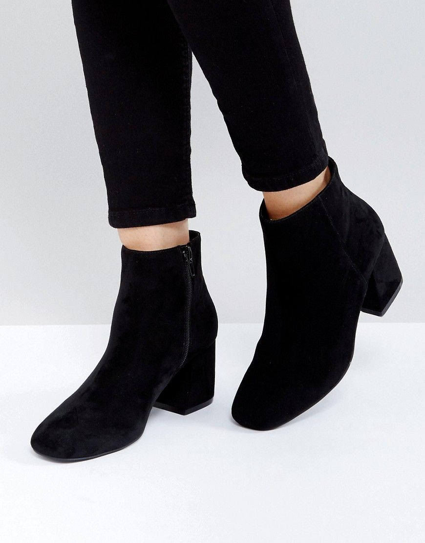 ankle boots, Black shoe boots