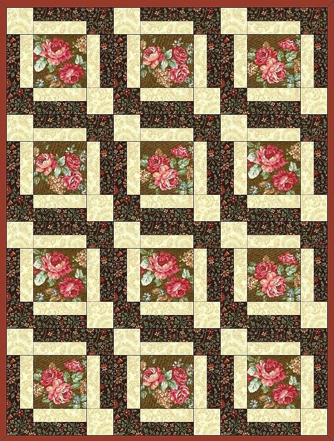 Amelia Rose Flower Pre-Cut Quilt Block Kit – Quilt Kit Shop ... : precut quilt kit - Adamdwight.com