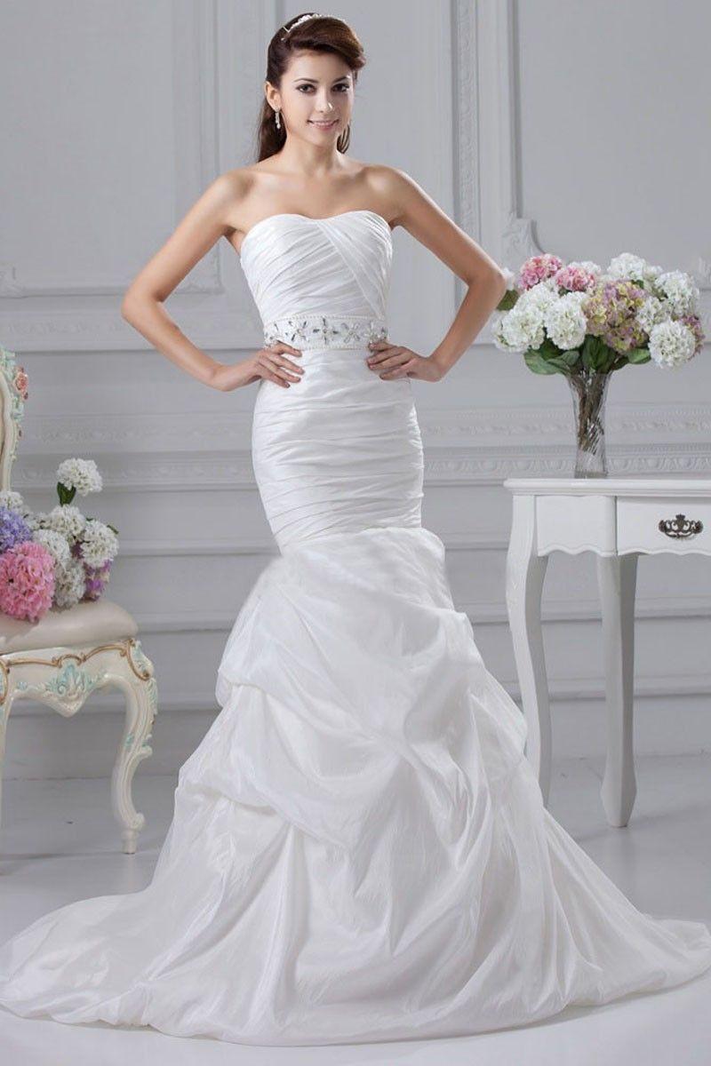 Lace wedding dress under 300  Taffeta chapel train wedding dress detachable belt  The Dress