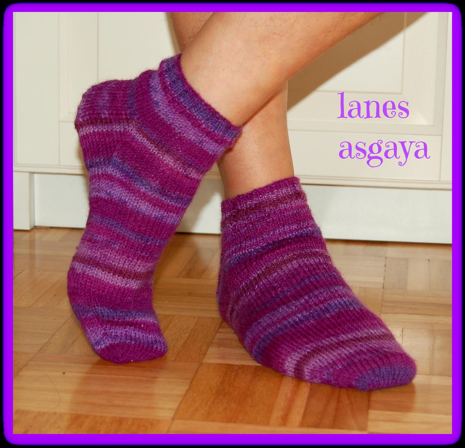 Lanes asgaya calcetines toe up con agujas de doble punta - Como hacer calcetines de lana ...