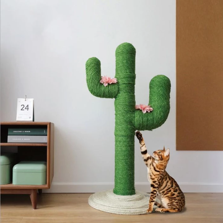 DIY Cute Cactus Cat Climbing Frame Rope Cat