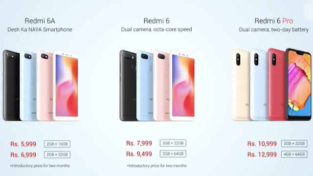 Xiaomi Redmi 6 Redmi 6a Redmi 6 Pro With Ai Face Unlock Launched In India Price Specifications Features Smartphone Product Launch Xiaomi