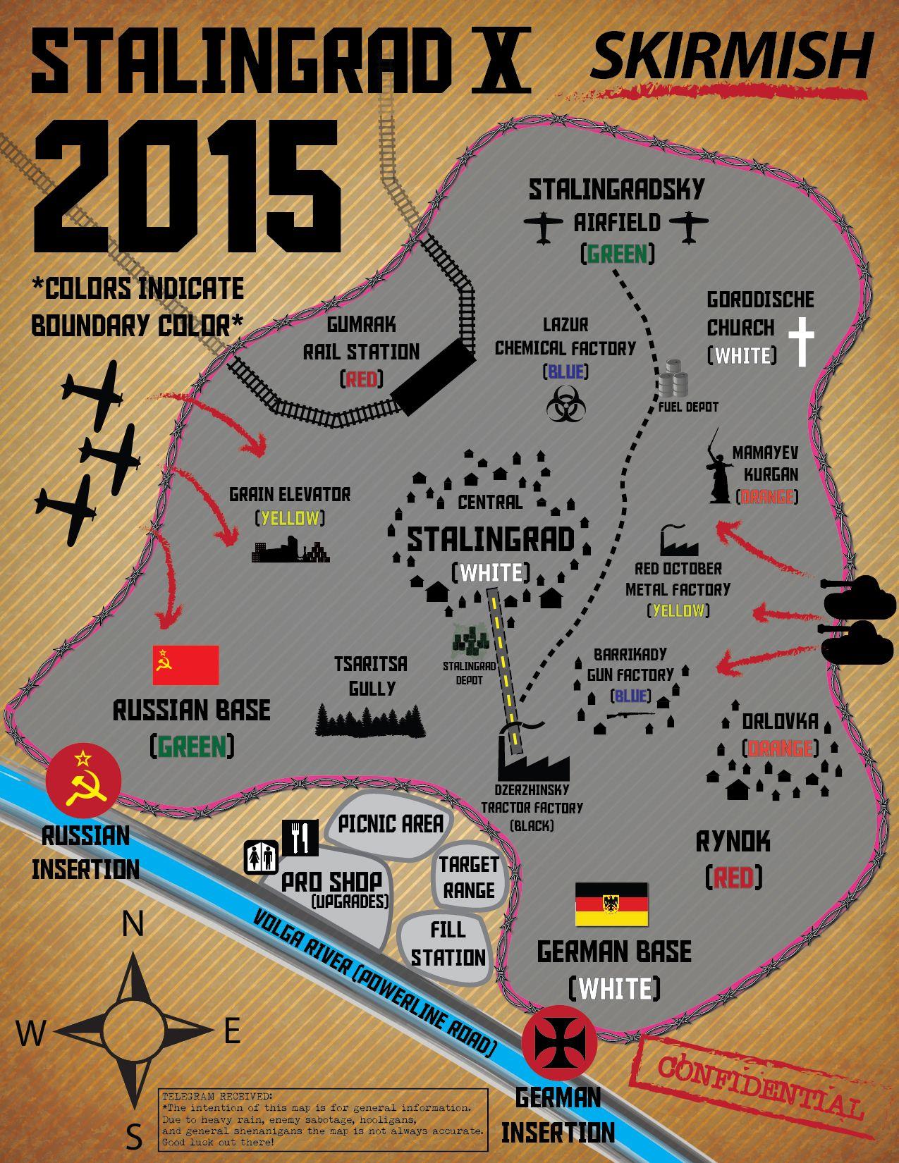 Skirmish Paintball Stalingrad 2015 Map kicks off