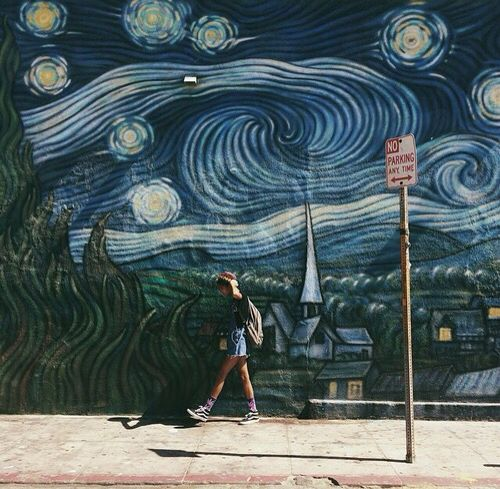 Vincent Van Gogh Starry Night Wall Art Building Art Street Art Art Street Art Photo