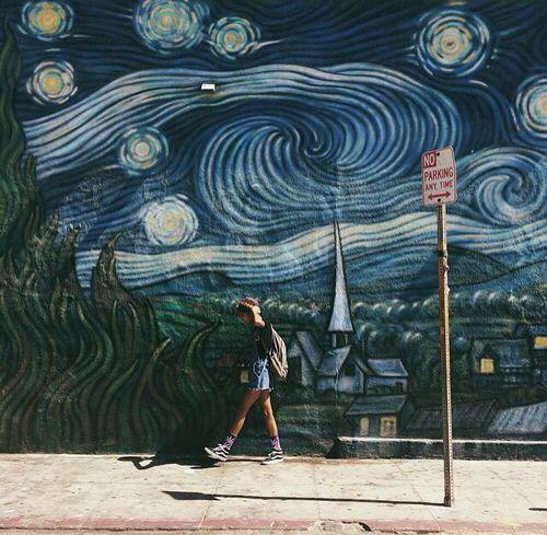 Vincent Van Gogh || Starry Night || Wall Art || Building